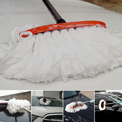 New Car Wash Cleaning Brush Duster Dust Wax Mop Microfiber Telescoping Dusting