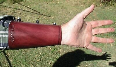 Hand Made To Order Personalized Leather Archery Arm Guard, Bracer