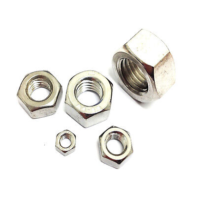 3mm 4mm 5mm 6mm 8mm 10mm 12mm 14mm 16mm 20mm HEX FULL NUTS A4 Stainless Steel