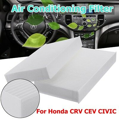 2x Automotive Cabin Conditioning Air Filte For Honda CRV CEV CIVIC 80292-S5D-A01