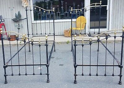 Antique Brass & Iron Twin Beds or King Size Great Ready to Go Condition Nice
