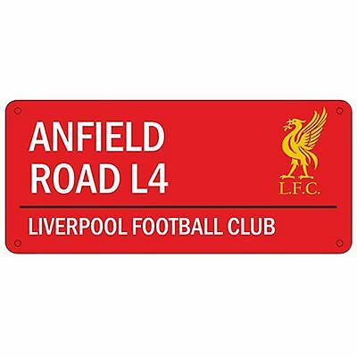 Liverpool Fc 'anfield Road' Street Road Sign New - Red 100% Official Football
