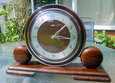 Metamec Mantle Clock, Art Deco Style, Clockwork, Excellent condition and working