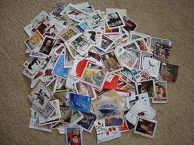 100 Used GB Commemorative Stamps On & Off paper