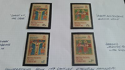 British Indian Territory 1973 Sg 47-50 Easter  Mnh