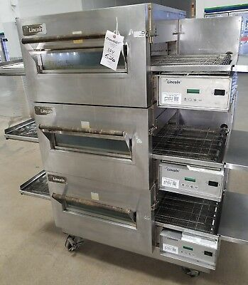 used Lincoln Triple Stack Electric 208/60/3 Conveyor Oven Model 1132