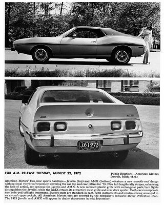 1973 AMC Javelin & AMX Factory Photo cb1258