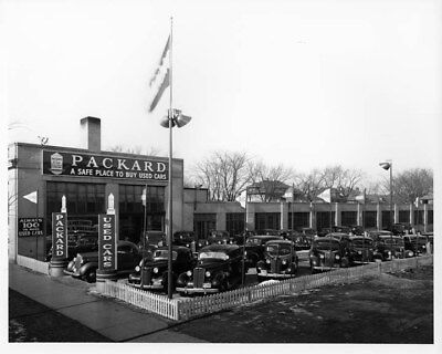 1940 Packard Used Car Lot ORIGINAL Photo Negative nad2233