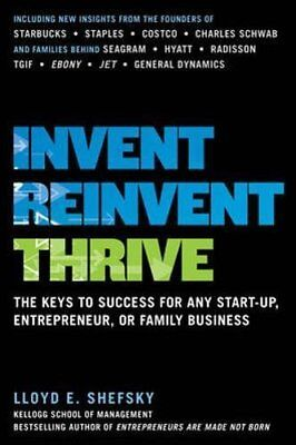 Invent, Reinvent, Thrive: The Keys to Success for Any Start-Up, Entrepreneur, o