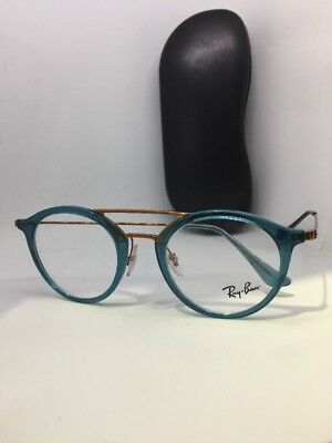 3e23a04632e2d NEW AUTHENTIC RAY BAN RB 7097 5632 BLUE FRAMES RX EYEGLASSES RB7097 47mm