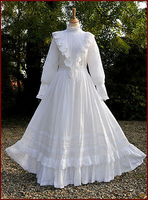 Vintage Laura Ashley Wedding Dress Edwardian Style Immaculate