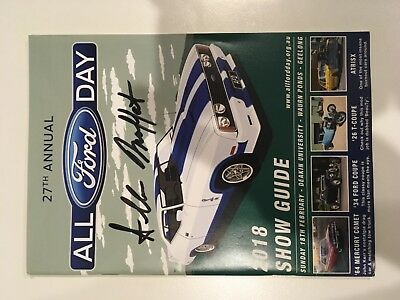 All Ford Day 2018 Show Guide Signed by Allan Moffat