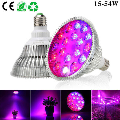 Full Spectrum E27 LED Grow Light Bulb 15W-54W IR UV for Indoor Hydroponic Plants