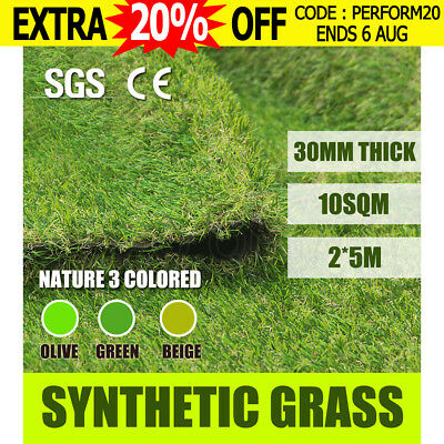 10 SQM Synthetic Turf Artificial Grass Plastic Plant Fake Lawn Flooring Mat 30mm