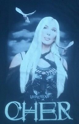 CHER 2003 Living Proof Farewell Tour Concert T-Shirt LARGE 2 Sided W dates/city