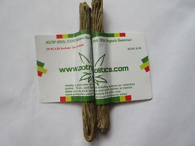 10 ft- Natural Hemp Wick with Organic Beeswax