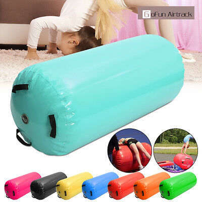 120x60CM Inflatable Air Roller Home Large Gymnastics Cylinder GYM Mat Beam NEW