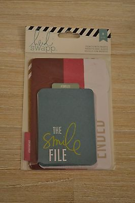 Heidi Swapp Pockets - The Smile File 8 pockets with inserts