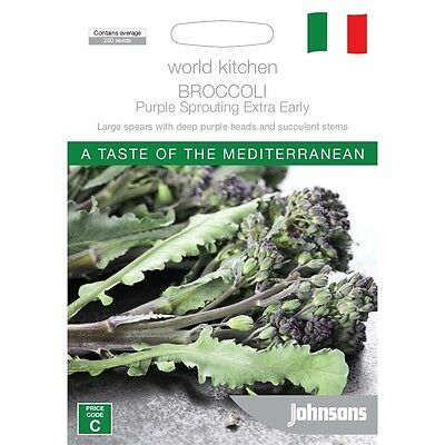 Johnsons World Kitchen Broccoli Purple Sprouting Extra Early Seeds