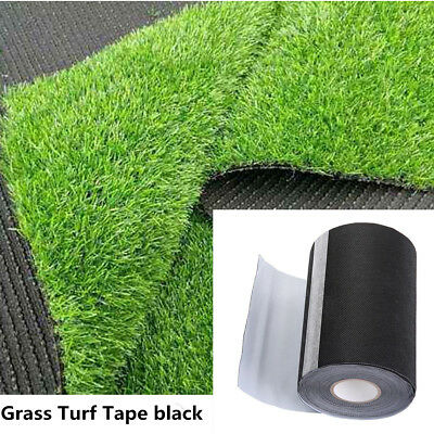 20M Self-adhesive Synthetic Turf Tape Jointing Grass Lawn Carpet Seaming Black