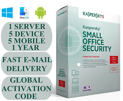 Kaspersky Small Office Security V5-V6 1 Server 5 DEVICE + 5 MOBILE + 1 YEAR