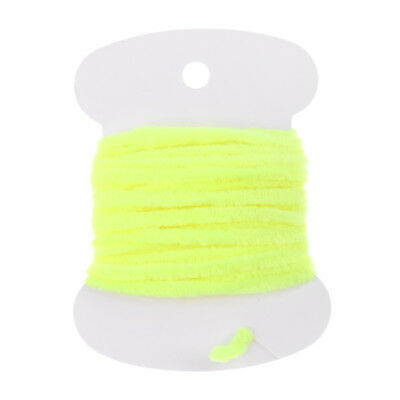 Perfeclan Fly Tying Body Materials Rayon Chenille Yarn 2mm Small Yellow 2m