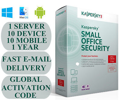 Kaspersky Small Office Security V5-V6 1 Server 10 DEVICE + 10 MOBILE + 1 YEAR