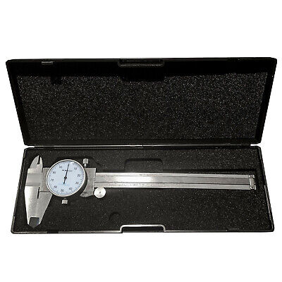 "HFS(R) 0 - 6"" ; 4 Way Dial Caliper .001"" Shock Proof ; Plastic Case"