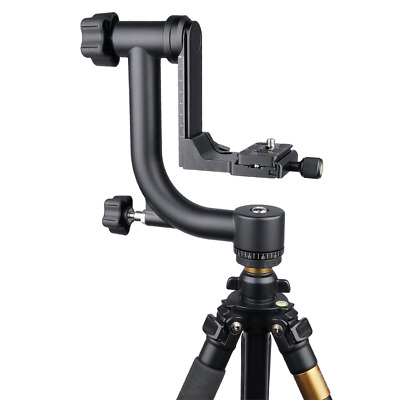 YELANGU Pro Panoramic Gimbal Pan Tripod Ball Head for Telephoto Lens DSLR Camera