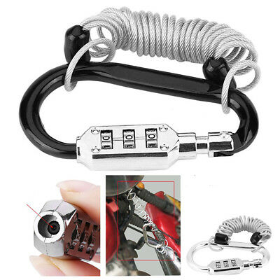 Anti Theft Combined Code Spring Combination Lock For Skateboards Helmet Luggage