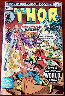Marvel The Mighty Thor Comic No. 244 February 1975 Usa Very Good