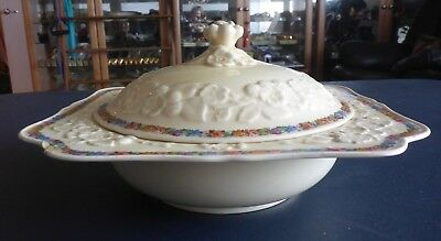 CROWN DUCAL GAINSBOROUGH LIDDED DISH VEGETABLE TUREEN MADE IN ENGLAND 1930s