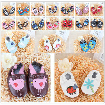 Newborn Boot Infant Genuine Leather Prewalker Boy Girl Baby Soft Sole Shoes