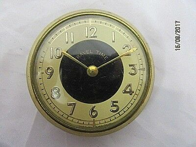 1950's Travel Clock Movement for Spares or Repairs, E11