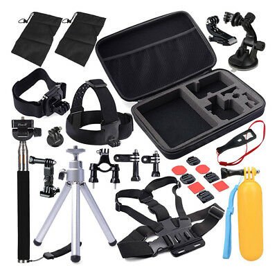 30 in 1 Camera Accessories Action Set Kit Pole Head Chest Mount Strap For Gopro