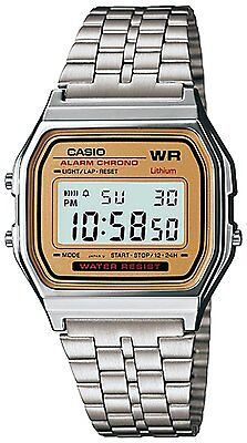 Casio Men's A159WA-9 Silver Stainless-Steel Quartz Watch with Digital Dial
