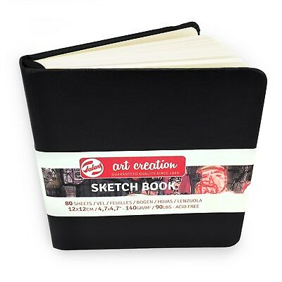 Royal Talens – Art Creation Hardback Sketchbook – 80 Sheets – 12 x 12cm – Black