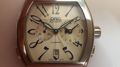 Oris 7540 Miles Tonneau World Timer Automatic Date Wrist Watch
