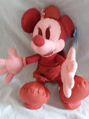 Disney Resorts Minnie Red denim soft Plush toy looks like Mickey Mouse Memories