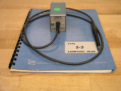 Tektronix S-3 1GHz Sampling Head & Manual for 3S2, 3S5, 3S6, 7S11,7S12 - Working