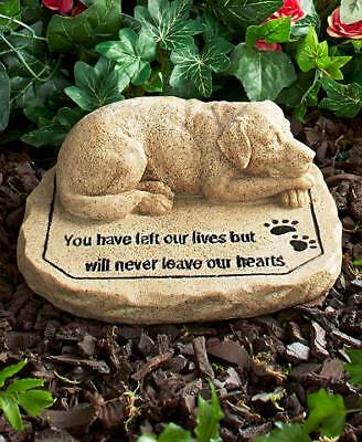 Pet Dog Memorial Sentiment Garden Stone Dog Sculpture Yard Lawn Decor