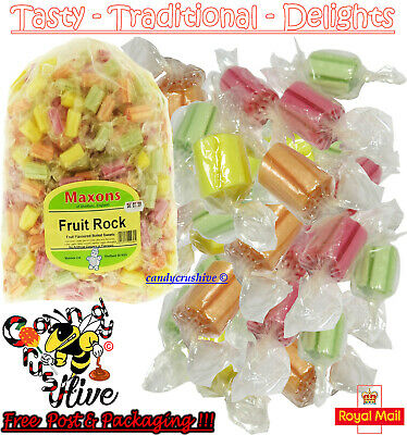 500 x Maxons Fruit Rock Roller Boiled Sweets Fruit Flavour Individually Wrapped