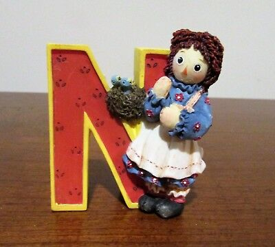 "Raggedy Ann & Andy Enesco Letter ""N"" Is For Nest"