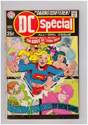 DC Special # 3  The Girls are taking Over ! Supergirl grade 8.0 scarce book !!