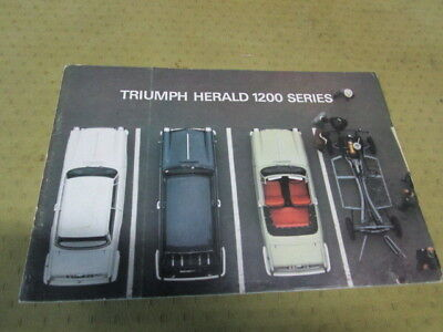 Catalogue Brochure Depliant Triumph Herald 1200 Series Langue Espagnol