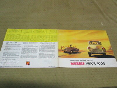 Catalogue Brochure Depliant Morris Minor 1000   Langue Anglais (7)