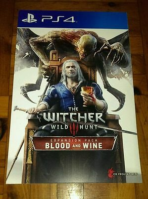 The Witcher 3 III Wild Hunt Expansion Blood and Wine PS4 DLC code card