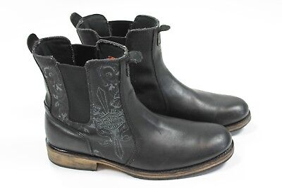 Harley Davidson Black Leather Chelsea Motorcycle Boot Stock No 94109 US Men's 13