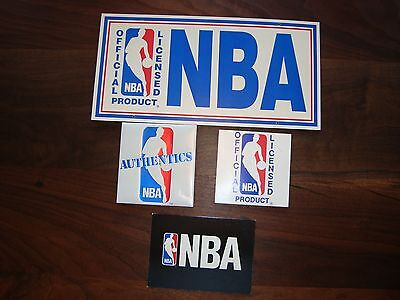 4-Early 90's NBA Official Licensed Product Display Signs
