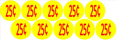 10 Price Stickers VENDING MACHINE CANDY STICKERS LABEL .25 Cent Free Shipping